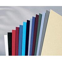 GBC LeatherGrain Binding Covers A4 Dark Grey Pack of 100