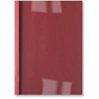 GBC LeatherGrain Thermal Binding Covers 3mm Red Pack of 100