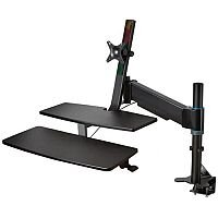 Kensington SmartFit Sit/Stand Workstation. Transform Any Fixed Desk Into A Sit/Stand Workstation. Ideal For Home Or Office Use. Improves Posture & Brain Activity, & Can Prevent Muscle Problems, Back Problems, Cardiovascular Issues & Heart Disease.