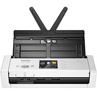 Brother ADS-1700W A4 Mobile Document Scanner, Scan Speed up to 25 pages, USB, LCD Touchscreen, Windows ; Mac and Linux Compatible