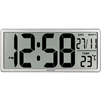 Acctim Date Keeper Jumbo LCD Wall/Desk Clock with Autoset 22357