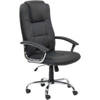 Alphason Houston High Back Leather Executive Chair Black