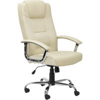 Alphason Houston High Back Leather Executive Chair Cream