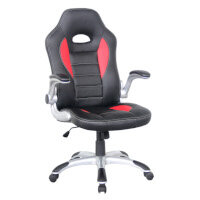 Talladega Alphason Office Chair Talladega Red & Black Faux leather