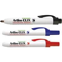 Artline Clix Retractable Whiteboard Marker Assorted Pack of 4 EK573AW4