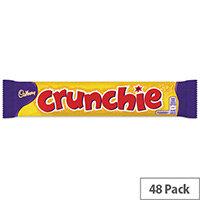 Cadbury Chocolate Crunchie Bars Pack 48 100140