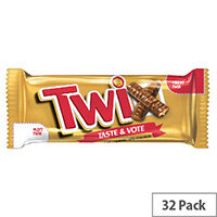 Mars Twix Chocolate Biscuit and Caramel Bars Pack 32 100560