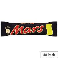Mars Bars Chocolate Soft Nougat and Caramel Bars Pack 48 100513