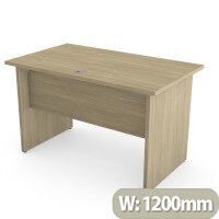 Home Office Ashford Desk W1200xD700mm 25mm Desktop Panel Legs Urban Oak