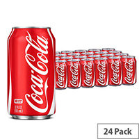 Coca-Cola Original Classic Coke Soft Drinks 330ml Can - Pack of 24, Ideal For Any Home, Office, Shop, Canteen & More!