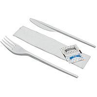 Knife Fork Napkin Salt Pepper Meal Pack Pack of 250 MEALPACK5