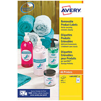 Avery Removable Labels Round 37mm 24 Per Sheet White Pack of 600 L4851REV-25