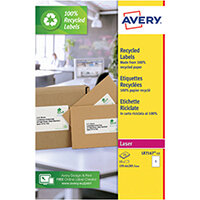 Avery Recycled Parcel Labels 1 Per Sheet White Pack of 15 LR7167-15