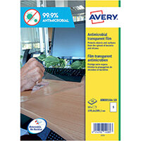 Avery Removable A4 Antimicrobial Film Labels Pack of 10 AM001A4