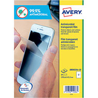 Avery Removable A4 Antimicrobial Film Labels Pack of 20 AM002A4