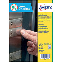 Avery Permanent Assorted Circular Antimicrobial Film Labels Pack of 630 AM00CA4