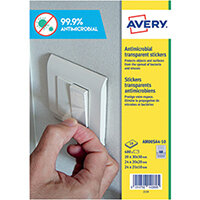 Avery Permanent Assorted Square Antimicrobial Film Labels Pack of 680 AM00SA4
