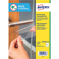 Avery Permanent A4 Antimicrobial Film Labels Pack of 20 AMOP2A4-10