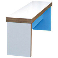 Frovi BLOCK Large Colour Panel Bench Seat W2000mm For 2200mm Table With 2 Tone Laminate Colours W2000xD280xH400mm