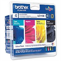 Brother LC-1100 BK/C/M/Y 4 Colour Ink Cartridge Multipack LC1100VALBP
