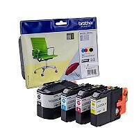 Brother LC225XL/LC229XL Cyan/Magenta/Yellow/Black Inkjet Cartridges Value Pack