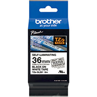 Brother P-Touch 36mm Black on White Labelling Tape TZE-SL261