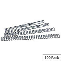 Fellowes Wire Binding Element 12.7mm Black Pack of 100 53273