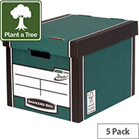 Bankers Box Premium Tall Box Green Pack of 5 7260806