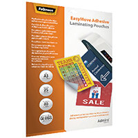 Fellowes Admire EasyMove Adhesive A3 Laminating Pouches 160 Micron Pack of 25 5601801