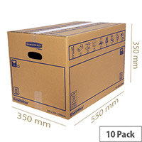 Bankers Box SmoothMove Standard Moving Box 350 x 350 x 550mm Pack of 10 6207301
