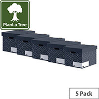 Bankers Box Decor Storage Box Grey Pack of 5 4482801