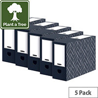 Bankers Box Decor 100mm Transfer File Grey Pack of 5 4482901