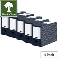 Bankers Box Decor 150mm Transfer File Grey Pack of 5 4483001