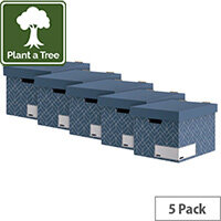 Bankers Box Decor Storage Box Blue Pack of 5 4483701