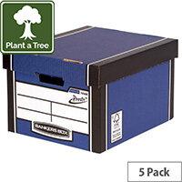 Bankers Box Premium Classic Box Blue Pack of 5 7250617