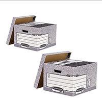 Bankers Large Storage Box Grey Pack of 10 BB810538 BOGOF