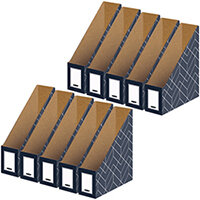 Bankers Box Magazine File Grey Pack of 5 Buy 1 Get 1 Free 4483501