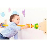 Wall Decorations - Shapes Bar, Educational Toy, Straight Frame and Fun Shapes - Colour: Assorted