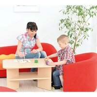 Table For Corners - Birch Tone, Adapted for Children - Storage for Books and Games - Dimensions LxWxH: 80 x 50 x 40cm