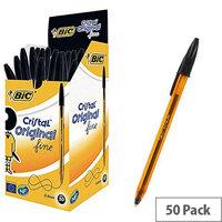 Bic Cristal Pen Fine Black Pack of 50 872731