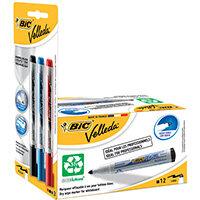 Velleda Drywipe Mrkr Bullet Blk Pack of 15 942234