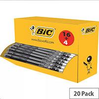 Bic Gelocity Gel Pen Black Pack of 20 964798