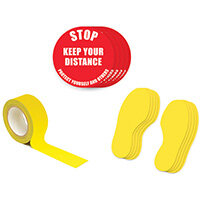 Social Distance Marker Kit Stop Keep Your Distance 1A SDKIT1A