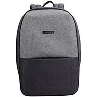 BestLife Travelsafe 15.6-inch Laptop Backpack - Anti Theft Feature, Hidden Zips, USB Charging Port, 23 Litre Capacity, Compartment for Laptop, Tablet, Mice - Colour: Light Grey BB-3452G-R1