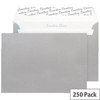 Blake C5 Wallet Envelope Peel And Seal 130gsm Pack of 250 Metallic Silver 312