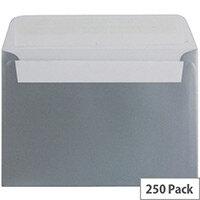 Blake C6 Metallic Silver Wallet Envelope (Pack of 250)