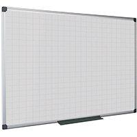Bi-Office Maya Magnetic Whiteboard Gridded 600x450mm MA0247170