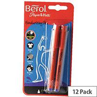 Berol Handwriting Pen Card of 2 Blue HPMTWB02 S0672920