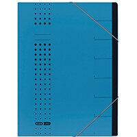 Elba Chic 7 Part Heavyweight Organiser File A4 Blue 400002020