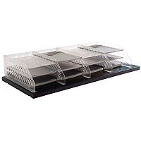 Bisley Pigeon Hole Shelf Unit Grey